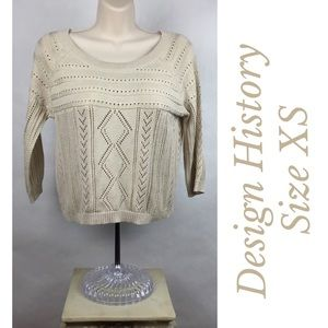 Design History Cropped Pullover Sweater Size XS